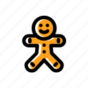 cookie, ginger bread, gingerbread man icon