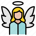 angel, christmas, wings, xmas icon
