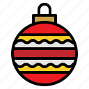 ball, bauble, christmas, decorations icon