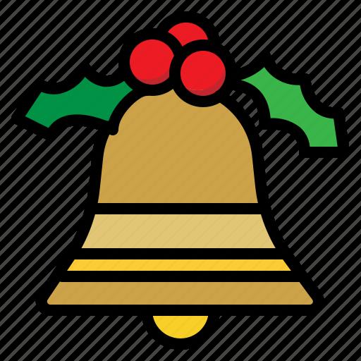 bell, christmas, holiday, xmas icon