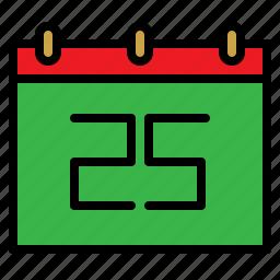 calendar, christmas, date, day, december, xmas icon