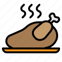 chicken, dinner, food, meal, roasted, thanksgiving icon