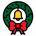 christmas, decoration, wreath icon