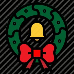 christmas, decoration, wreath icon