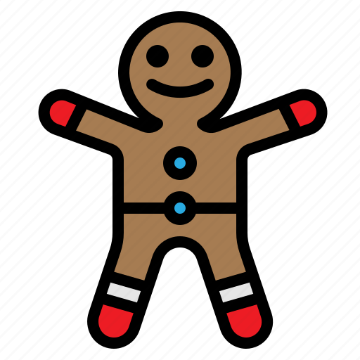 christmas, cookie, gingerbread, man, xmas icon