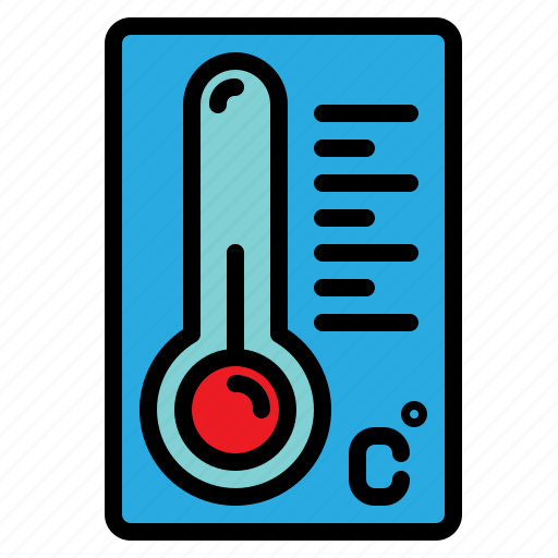 forecast, temperature, thermometer, weather icon