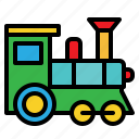 baby, railroad, toy, train icon