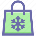 bag, christmas, season, shopping, snow, winter icon
