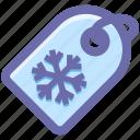 flake, pice, shopping, snow, tag, winter icon