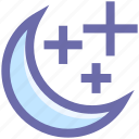 christmas, decoration, moon, moon stars, stars, weather icon