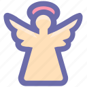 angel, christmas, christmas angel, cupid, decoration, holiday icon