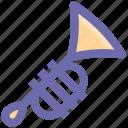 band, brass, instruments, music, trombone, trumpet icon