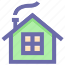cabin, christmas, holiday, home, house, winter icon