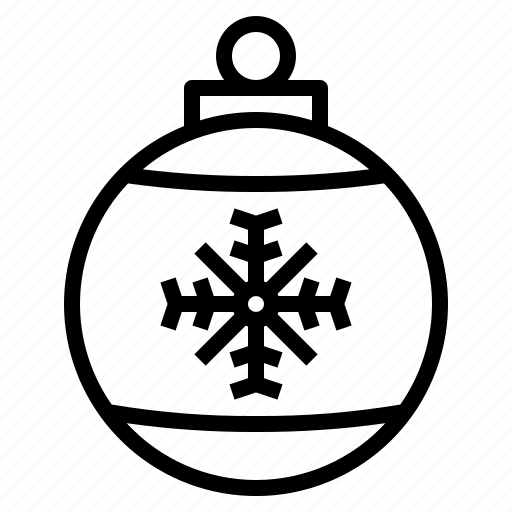 ball, christmas, decoration, party icon