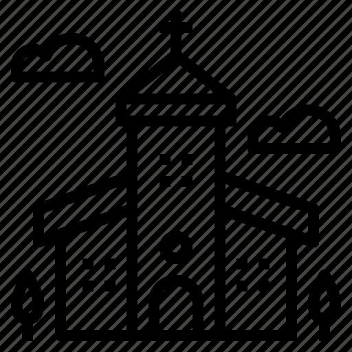 building, christian, christmas, church icon