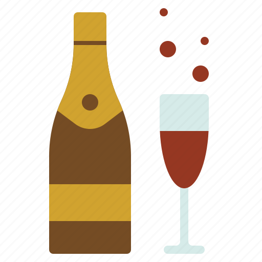 celebration, champagne, christmas, newyear, party icon