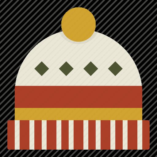 beanie, christmas, cold, warm icon