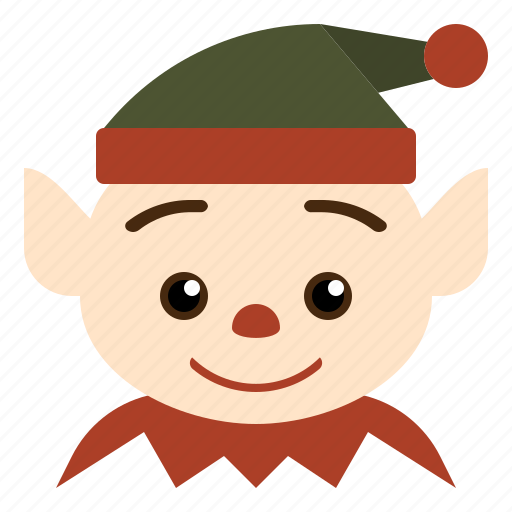 christmas, cute, elf, funny icon