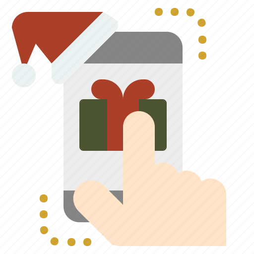 christmas, gift, newyear, online, shopping icon