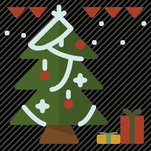 christmas, decoration, gift, tree icon