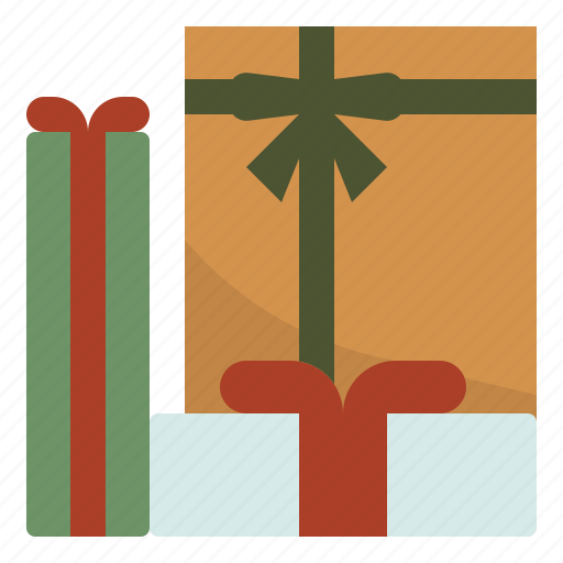 christmas, gifts, give, present icon