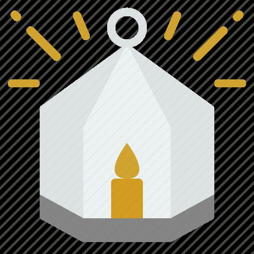 candle, christmas, decoration, holder, house icon