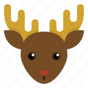 animal, christmas, reindeer, santa