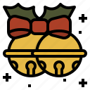 bells, christmas, ribbon, sleigh icon