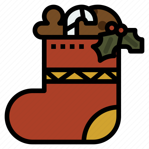 christmas, decoration, party, sock icon