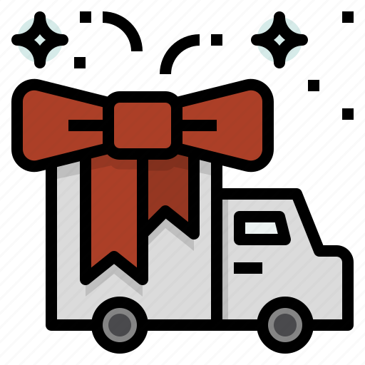 christmas, delivery, gift, newyear, sending icon