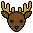 animal, christmas, reindeer, santa icon
