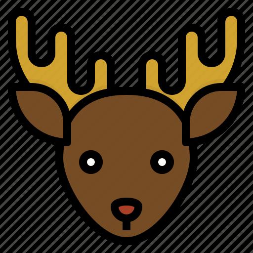 animal, christmas, reindeer, santa icon