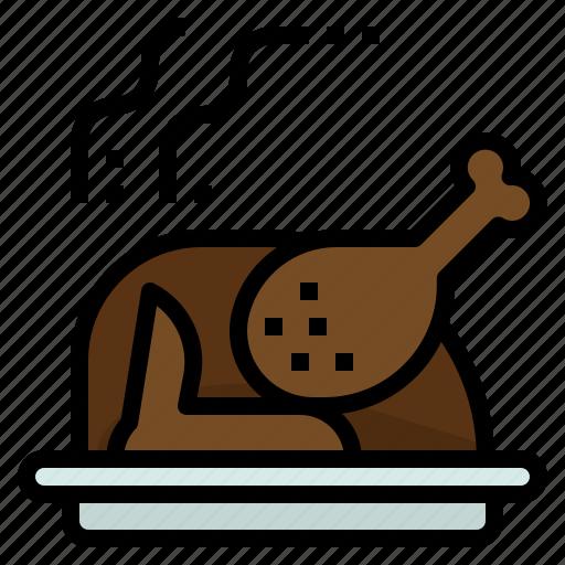 celebration, christmas, dinner, roast, turkey icon