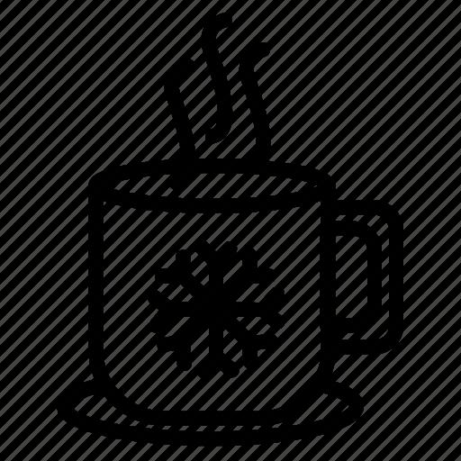 Xmas, winter, coffee, christmas, tea, snow, snowflake icon - Download on Iconfinder