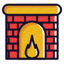 christmas, fire, ot, snow, warm, winter icon