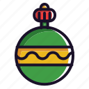 ball, christmas, decoration, santa, winter icon