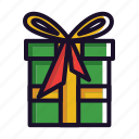 box, christmas, gift, santa, winter icon