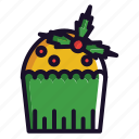 cake, christmas, food, winter icon