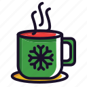 christmas, coffe, hot, tea, warn, winter icon