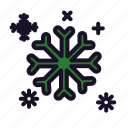 christmas, ice, snow, winter icon