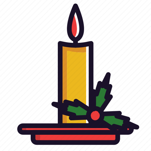 candle, christmas, decoration, fire, new year, winter icon