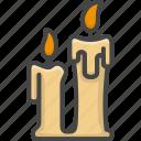 candle, christmas, colored, holidays, xmas