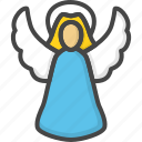 angel, christmas, colored, holidays, xmas icon