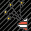 christmas, colored, firework, holidays, xmas icon
