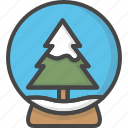 christmas, colored, globe, holidays, snow, tree, xmas icon