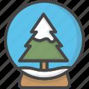 christmas, colored, globe, holidays, snow, tree, xmas