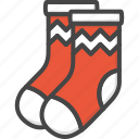 christmas, colored, holidays, socks, stockings, xmas icon