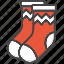 christmas, colored, holidays, socks, stockings, xmas icon