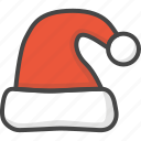 christmas, colored, hat, holidays, santa, xmas icon