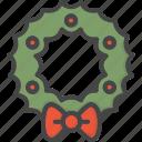 christmas, colored, holidays, wreath, xmas